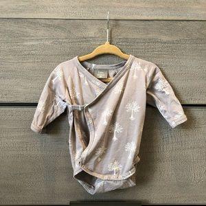 Kate Quinn organic 3-6 mo kimono wrap bodysuit